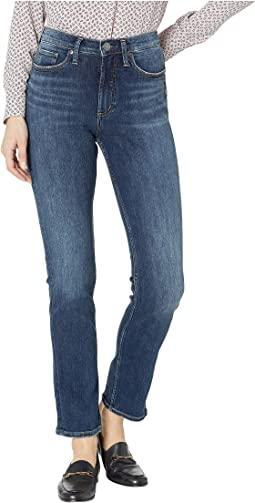 Calley Super High-Rise Curvy Fit Straight Leg Jeans in Indigo