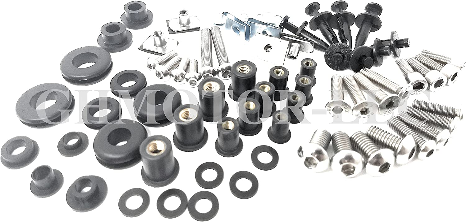 201PCS Cash special price Silver Fairing Bolt Kit Fasteners 10 Ducati Nut Screw Fees free For