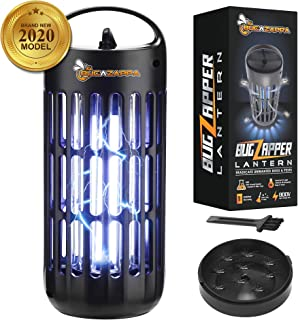BugAZappa Bug Zapper Lantern | Great Indoor Outdoor Electric Bug, Fly & Mosquito Killer | Powerful UV Lamp Light Bulb | for Home & Outdoors