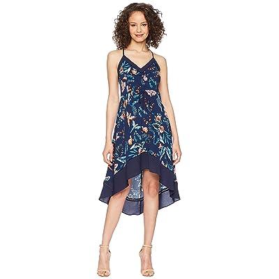 Adelyn Rae Gianina Hi-Low Dress (Navy Multi) Women
