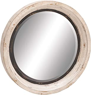 Deco 79 20260 Wood/Metal Wall Mirror, 35