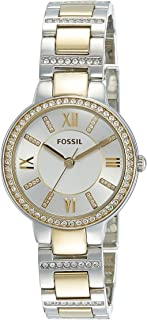Fossil Womens Quartz Watch, Analog Display and Stainless Steel Strap ES3503