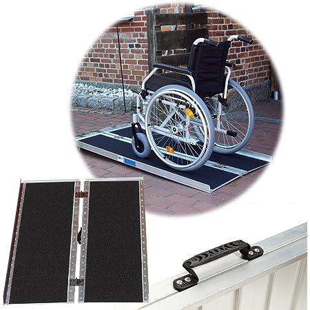 Rollstuhlrampe Verschiedene Größen 272 Kg Klappbar Alu Auffahrrampe Verladerampe Rampe 152 Baumarkt