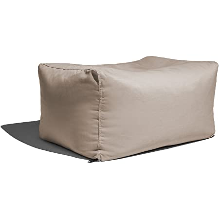Taupe Jaxx Luckie Outdoor Patio Bean Bag Ottoman