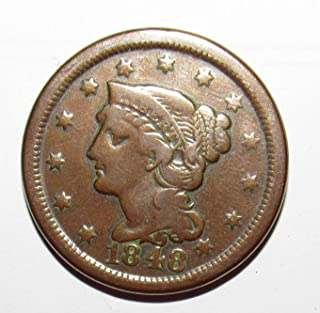 1848 P Large Cent 1c Extremely Fine/About Uncirculated