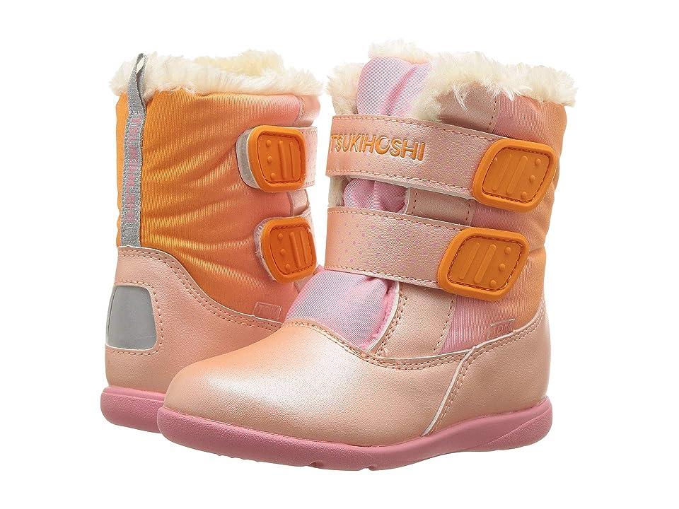 Tsukihoshi Kids Teddy (Toddler/Little Kid) (Peach/Pink) Girls Shoes