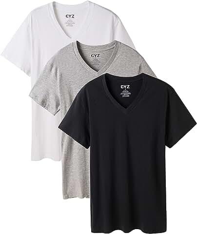 3 Pack CYZ Men's V-Neck T-Shirt only $7.49