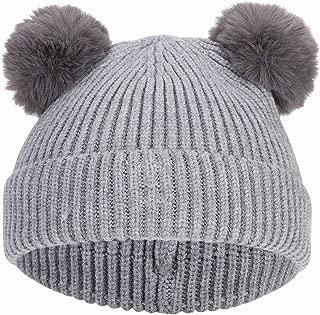 caldi guanti da sci freddi per esterni per bambini da 0 a 4 anni Guanti invernali da bambino con orso in pile spesso foderati in maglia con cordino da appendere al collo