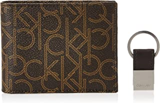 Calvin Klein 79544 Leather Bifold Wallet and Key Fob Set