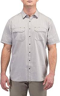5.11 战术男式人字呢短袖衬衫,Raisin Herringbone,M 码
