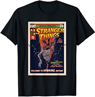 Stranger Things Welcome To Hawkins Comic Cover T-Shirt
