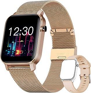 YUNFUN Smartwatch Mujer Reloj Inteligente Impermeable IP68 con Monitor de Sueño Pulsómetros Cronómetros Contador de Calorí...