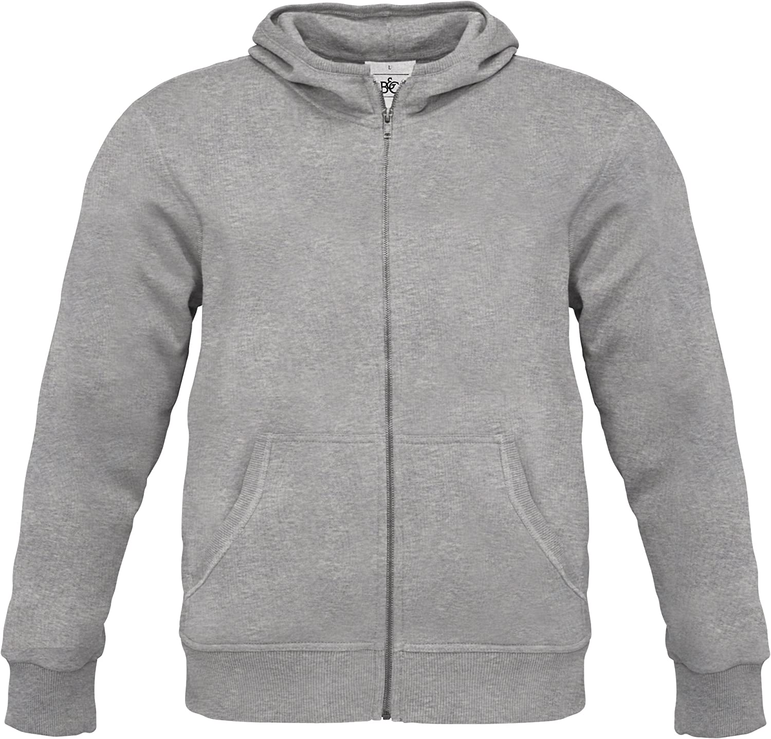 B&C Mens Monster Full Zip Hooded Sweatshirt Hoodie