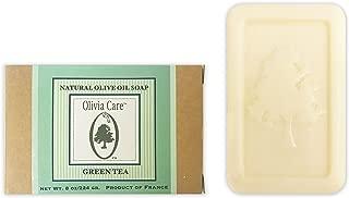 |Green Tea, Mandarin, Verbena, Lavender| Natural & Organic Olive Bar Soaps, 8oz (Large Size) by Olivia Care -Triple Milled, Pure & Cold-pressed (Green Tea)