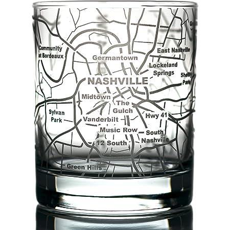 Heavy Base ScotchWhiskey Glass Nashville 8 oz