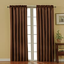 """ECLIPSE Blackout Curtains for Bedroom-Canova 42"""" x 95"""" Insulated Darkening Single Panel-Rod Pocket Window Treatment Living..."""