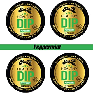 Teaza Peppermint Herbal Energy Pouch, 10 Count, 4 Camo Pucks