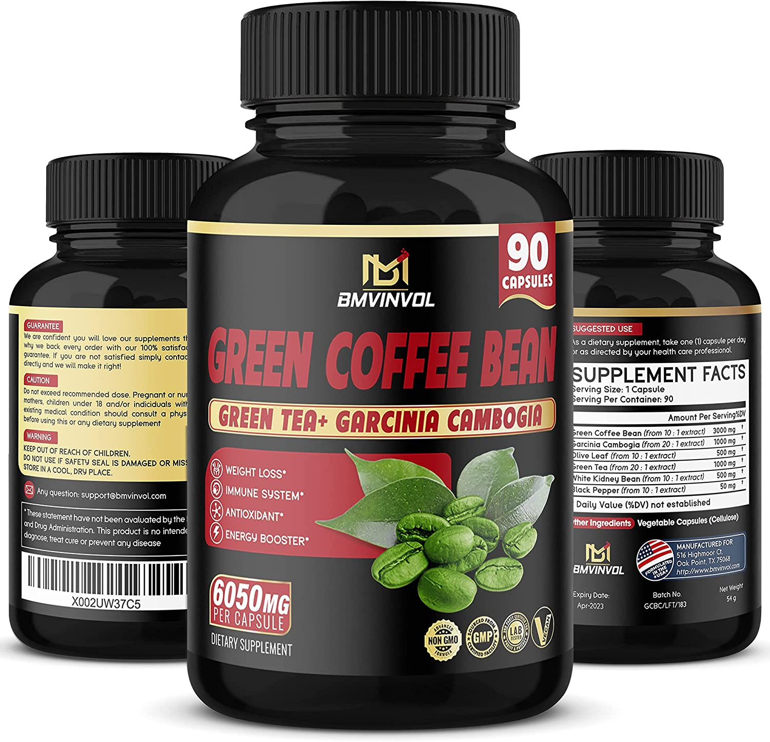 Green Coffee Financial sales sale Bean Extract Capsules-6050mg Equivalent Directly managed store Herbal En -