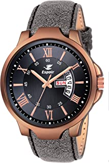 Espoir Analogue Grayish Black Dial Day and Date Boy's and Men's Watch - Charcol0507