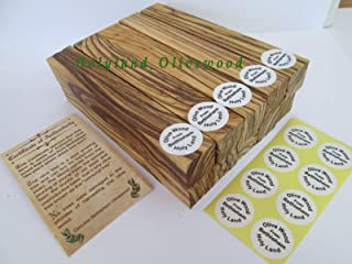 Bethlehem Olive Wood Pen Blanks with Certificates -10 -Authentic-Premium Quality