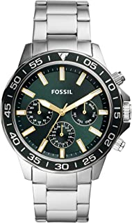 FOSSIL MENS BANNON STAINLESS STEEL WATCH - BQ2492
