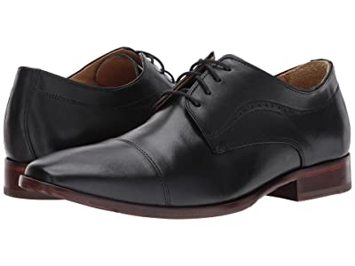 Johnston & Murphy McClain Cap Toe Dress Oxford (Black Full Grain) Men