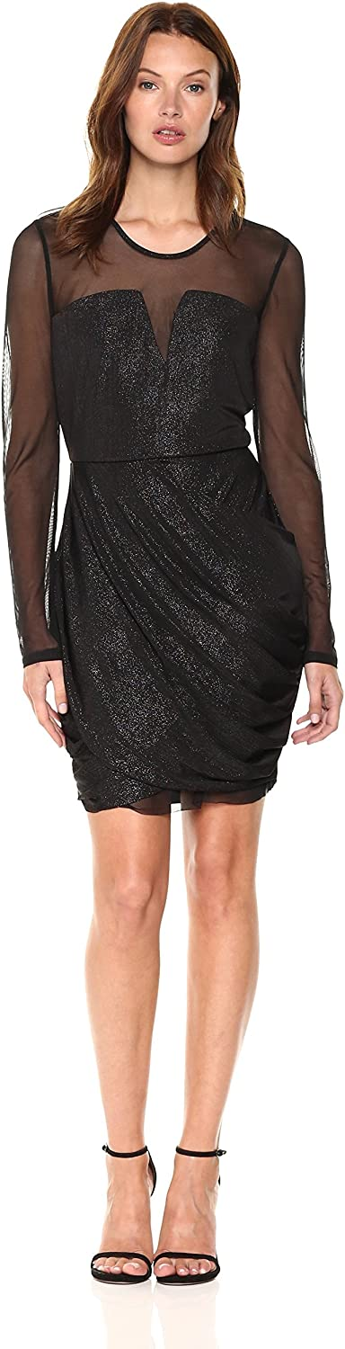 BCBGeneration Womens Dress with Draped Skirt Dress