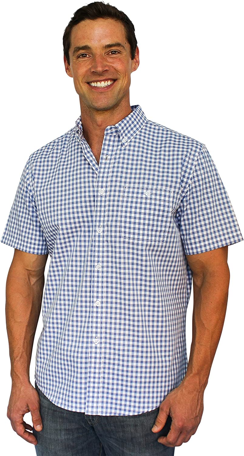 Clickbait Clothing The Best Shirt Ever - Stainproof, Waterproof, Sweat-Wicking Men's Button Down Short Sleeve