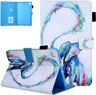 جراب 2020 Galaxy Tab A 8.4، جراب SM-T307/ SM-T307U، جراب UGOcase رفيع من جلد البولي يوريثان مقاوم للصدمات متعدد الزوايا بف...