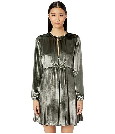 RED VALENTINO Liquid Velvet Dress (Grey) Women