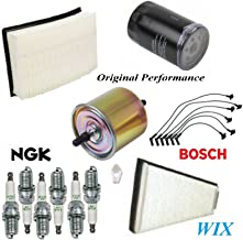 8USAUTO Tune Up Kit Air Cabin Oil Fuel Filters Wire Spark Plug Fit FORD TAURUS V6 3.0L 2000