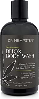 Charcoal Detox Body Wash with Hemp Oil - All Natural Bath and Shower Gel For Oily Skin - Treats and Prevents Acne Breakout...