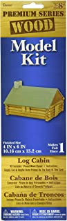 Darice 1-Piece Log Cabin Wood Model Kit