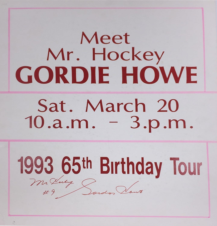 Gordie Howe Mr. Hockey  Signed Vintage Sign  Detroit Red Wings