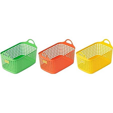サンコーPC カラフル野菜室バスケット ワイド 3個組