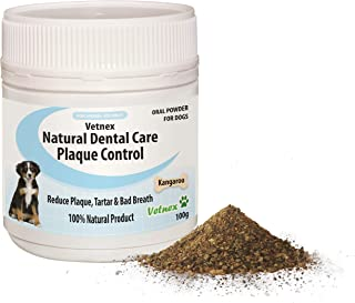 Vetnex Natural Dental Care Plaque Control Dental Powder (Kangaroo) for Dogs 100g