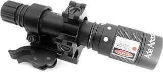 Ade Advanced Optics Adjustable Green Laser Flashlight Designator Illuminator Switch and QD Mount, Class IIIR laser product, <5mW power output
