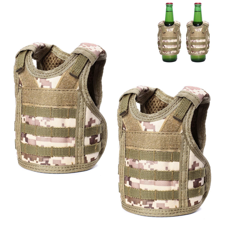 Mini Military Beer Water Bottle Can Vest Carrier Holder Beverage Cover Straps GG