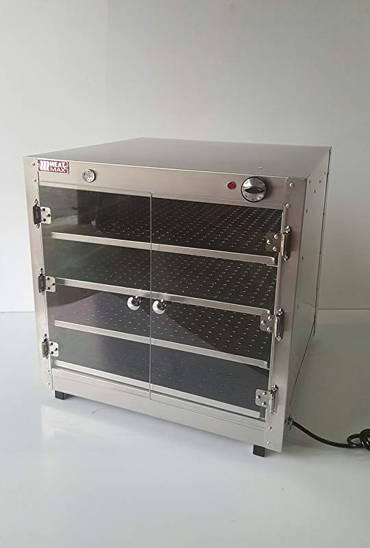 HeatMax 24x24x24 Commercial Hot Box Food Warmer With Acrylic Doors Pizza Concessions
