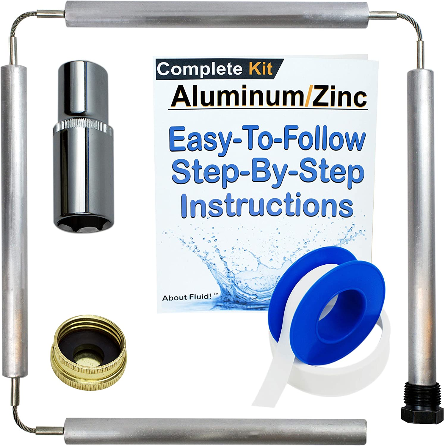 Aluminum ZINC RV Style Two Pack with Tape About Fluid Aluminum ...