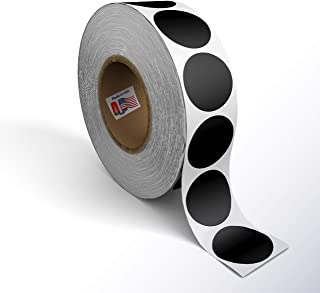 Kenco Color Coding Circle Dot Sticker Labels on a roll (Black, 2 INCH 500 Stickers)