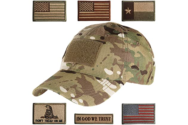 Lightbird Tactical Hat with 6 Pieces Tactical Military Patches 30d28be104a
