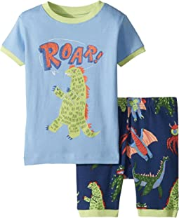 Hatley Kids Mega Monsters Applique Short Pajama Set (Toddler/Little Kids/Big Kids)
