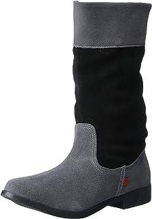 MARC JOSEPH NEW YORK Unisex-Child Kids Girls Genuine Leather Made in Brazil High Top Riding Boot