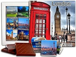 DA CHOCOLATE Candy Souvenir LONDON Capital of England Chocolate Gift Set 5x5in 1 box (Big Ben Prime)