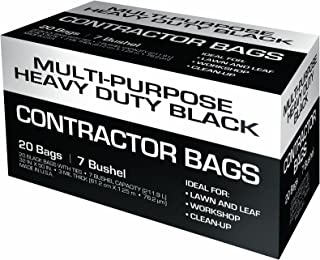 Petoskey Plastics, Inc 93001 Petoskey Plastics Fg-P9934-01A Heavy Duty Contractor Bag with Ties, 159l 80cm W X 130cm D X 3 Mil T, 1 Pack (20, Black