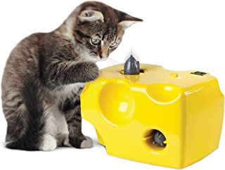ANIMAL PLANET Automatic Peek-a-Boo Mouse & Cheese Interactive Toy for Cats, Features Built-In Auto Off Function, Pop Out Mice For Hours Of Entertainment, All Day Play W/Away Mode, Battery Operated