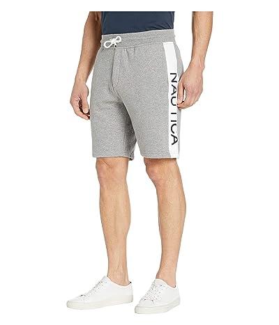 Nautica Panel Logo Shorts (Stone Grey Heather) Men