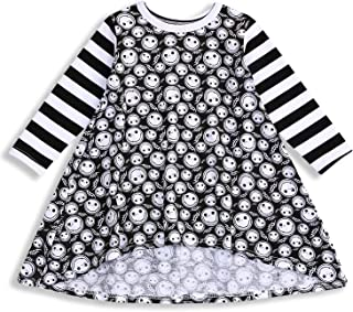 YOUNGER TREE Toddler Baby Girl Dress Ghost Print Summer Irregular Dresses Autumn Clothes Pumpkin Outfits