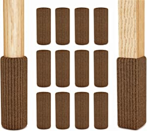48 Pcs Premium Chair Socks for Hardwood Floors with Grip Ties - Do not Fall Off - Very Easy to Put on - Fits All Leg Shapes - High Elastic bar Stool Socks - Chair Booties